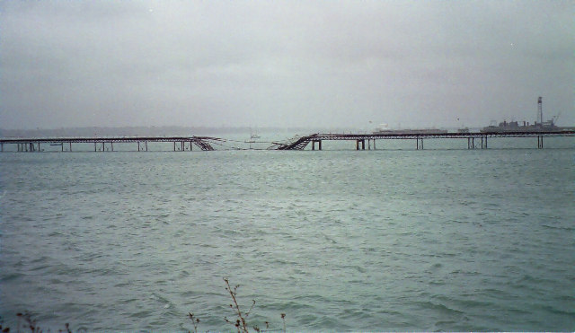Hythe Pier after the Donald Redford collision