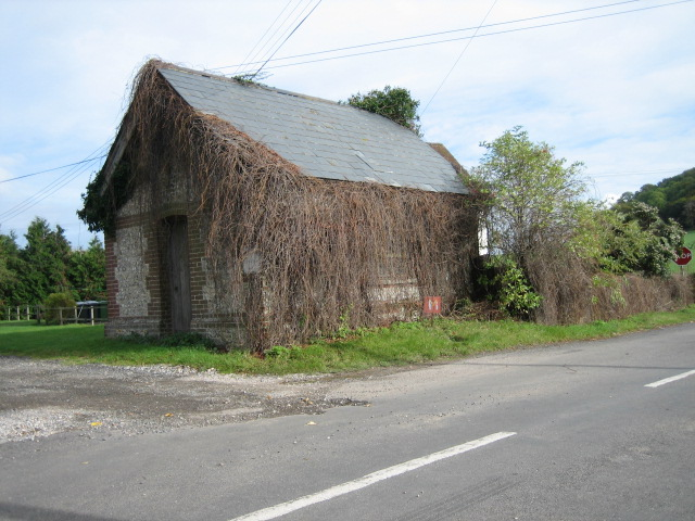 Building near junction of A3090 and B-road heading west