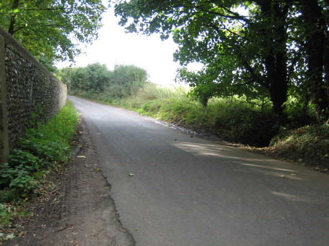 Road along boundary to Hursley Park