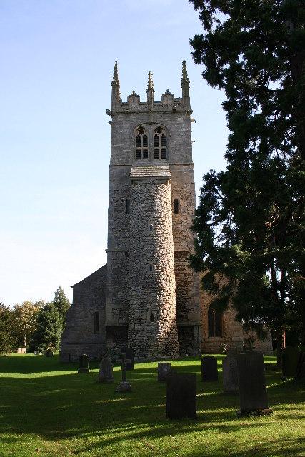 All Saints' church, Hough on the Hill, Lincs.