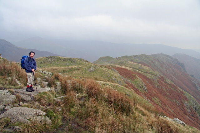 The path from Calf Crag to Gibson Knott