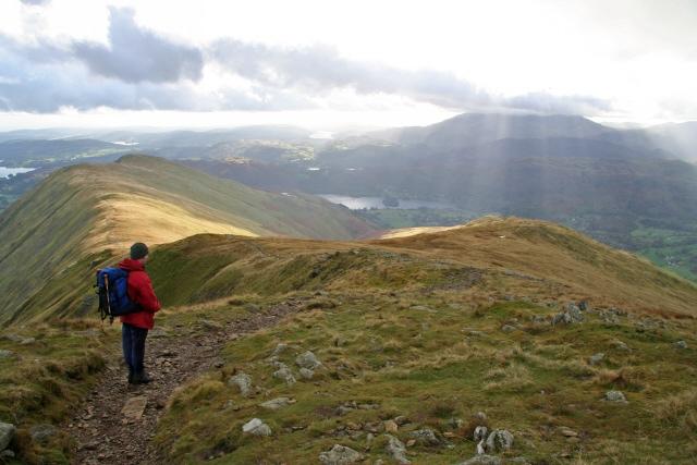 The ridges to Heron Pike and Stone Arthur