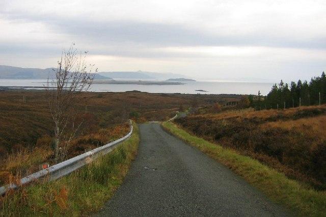 Road to Broadford Bay.