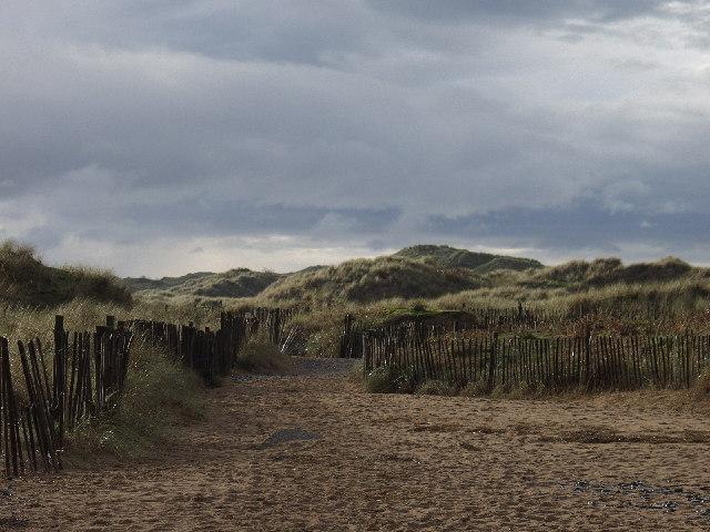 Outer Dunes behind Talacre Beach