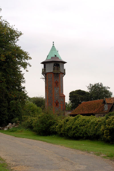 Water tower at Kilverstone Hall