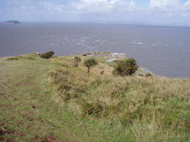 A windy Day on Brean Down.
