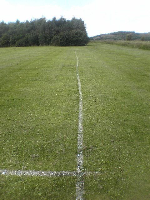 Sow Brook football pitch touchline looking north