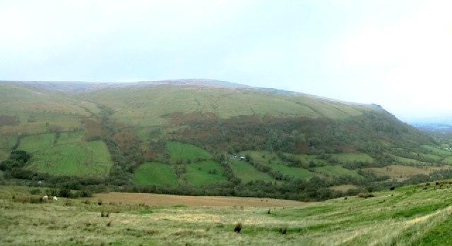 South side of Fan Bwlch Chwyth