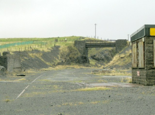 Disused railyard at Penwyllt Quarry