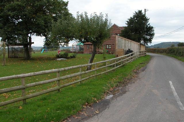 Road near Aylton