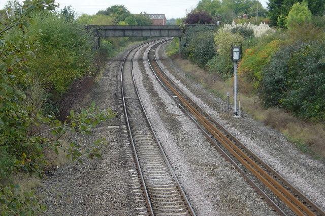 Railway bridge & track, Creech St Michael