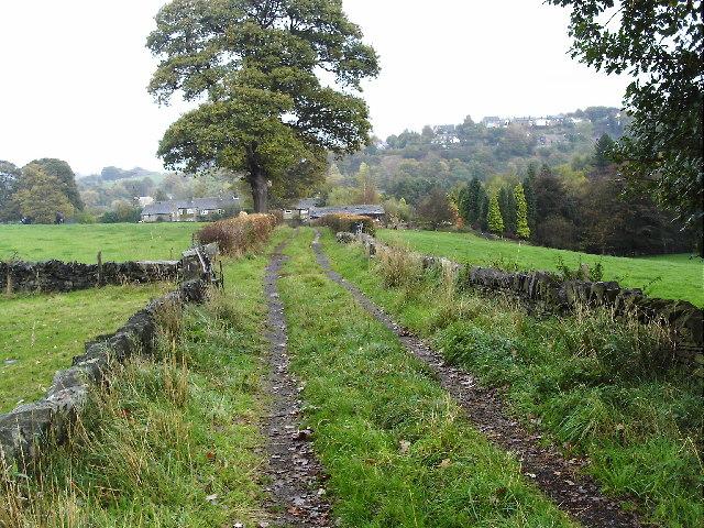 Lane near Woodsome Lees