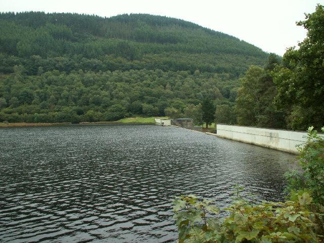 Cwm Rheidol reservoir and dam