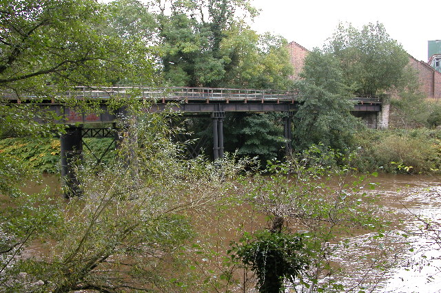 The old railway bridge at Welsh Bicknor