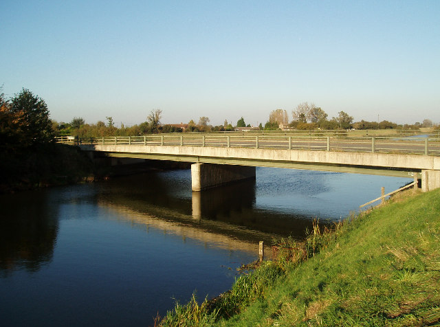 Bridge over the Middle Level Main Drain at Three Holes.
