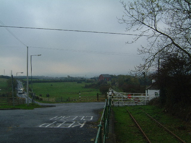 Bowes Railway road crossing