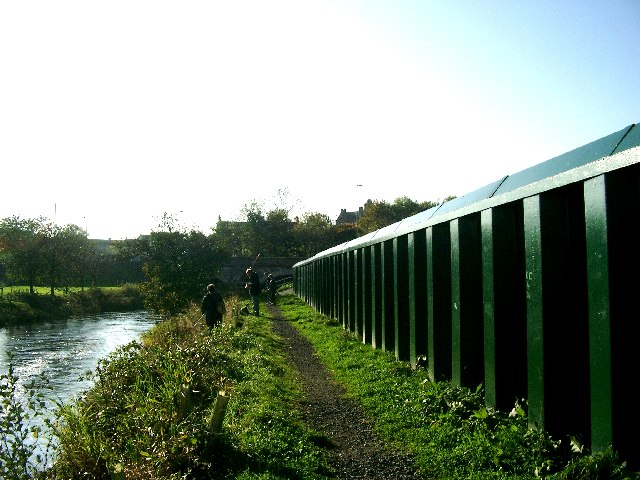New flood defences at Hurlford