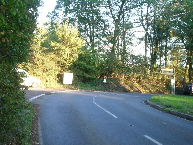 Junction of Abinger Road (left) with Etherley Hill (Ockley Road)