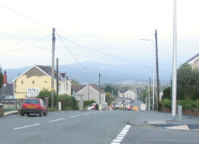 A483 descends to Tycroes