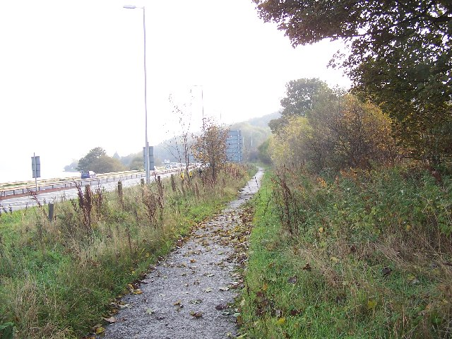 Footpath and A 8 Road
