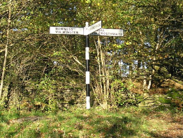 Signpost - Winster valley
