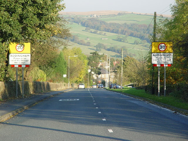 Approaching Addingham
