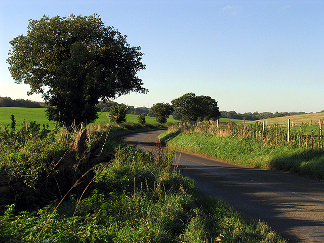 A country road in the Leckhampstead area