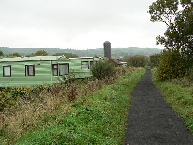 Cycle path and caravan site