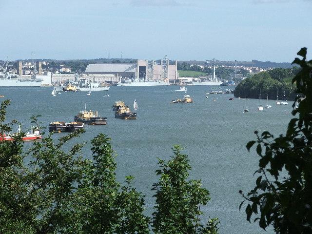 Devonport dockyard Plymouth from Wearde Quay