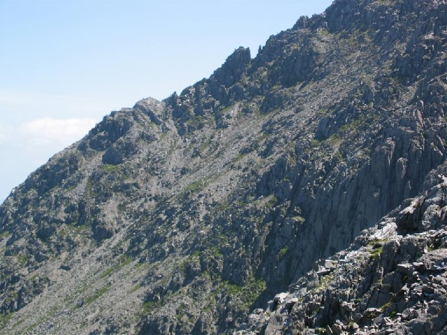Bristly Ridge, Glyder Fach, from The Gribin