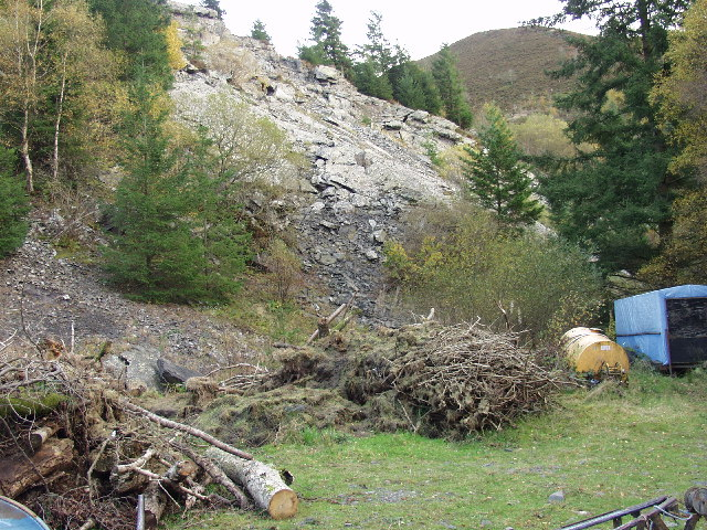 Quarry that provided the stone for the Efyrnwy Dam