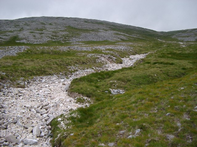 Dry River bed down Arkle