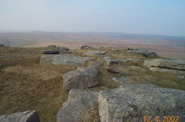 North view from Great Mis Tor - Dartmoor