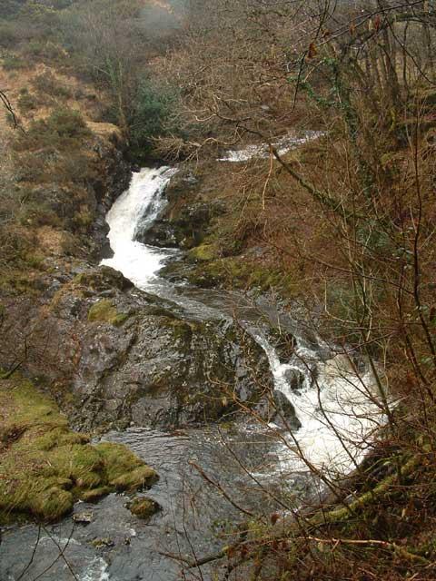 Tarka Trail: Waterfall on the East Okement