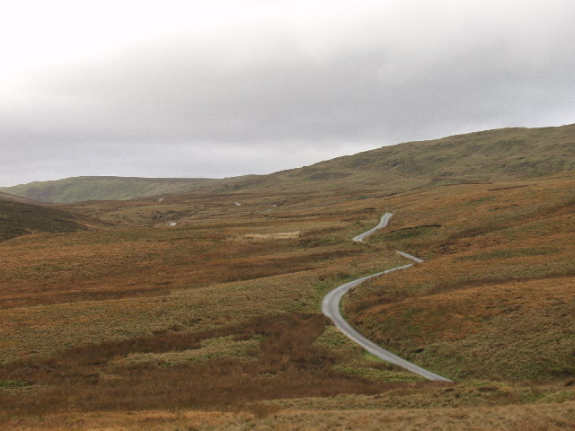 Mountain road up to Bwlch-y-Groes