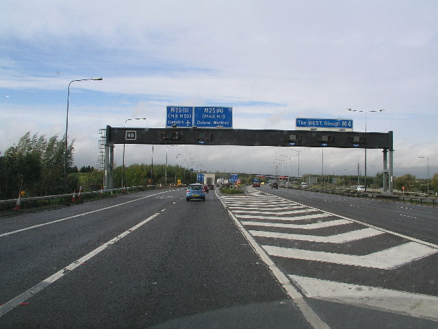 Sliproad to M25 From M4 Westbound