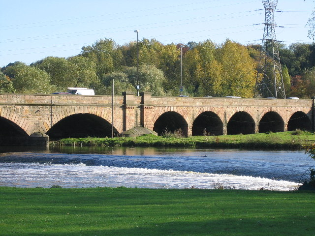 Weir on the River Trent