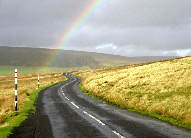 Rainbow over the B6278