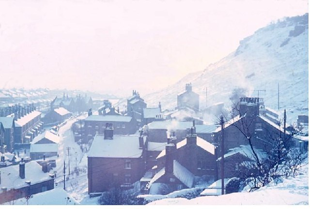 Lane End, Baildon, after snowfall in January 1963
