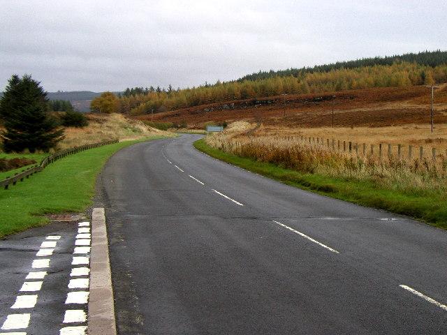 The road near Kielder Water