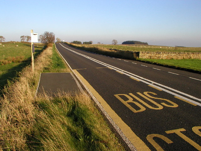 The B6318 near Brocolitia