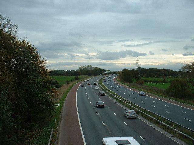M6 Motorway near Garstang