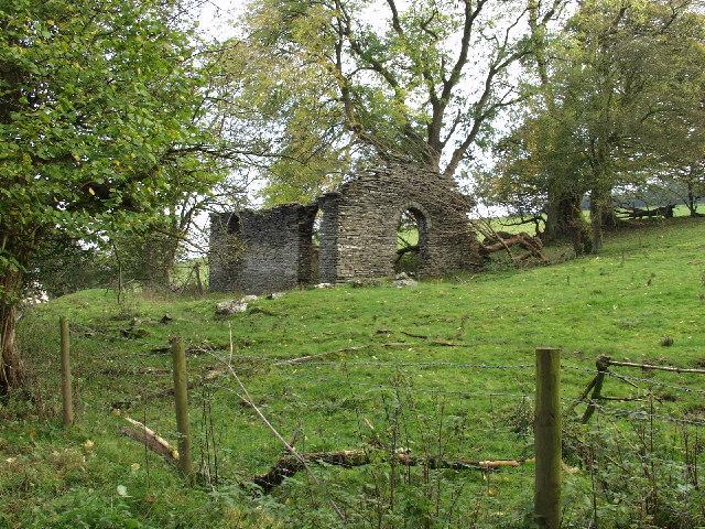 Derelict building at Blaenau'r-dwr
