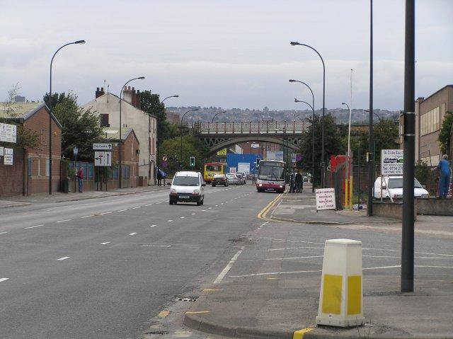 Railway viaduct crossing Attercliffe Road