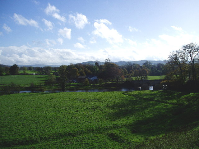 View across the Ribble at Great Mitton
