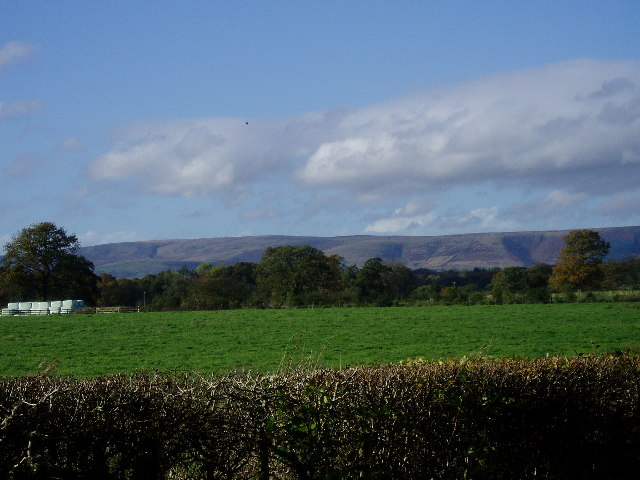 The Bowland Fells from nr Bashall Eaves