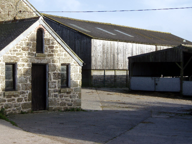 Milking sheds at Lower Trewern