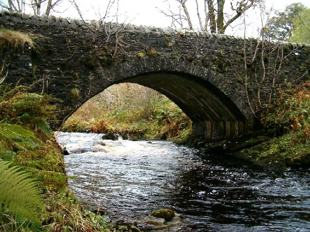 Old bridge at Inverliever, Loch Awe, Argyll