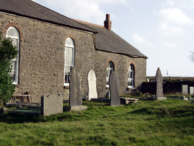 Tregerest Methodist Chapel and graveyard