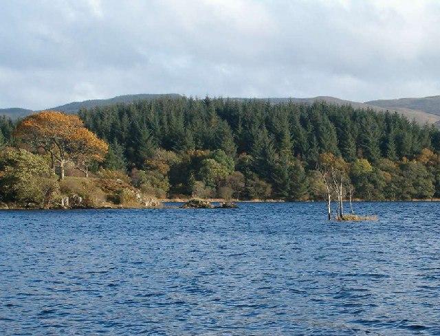 Crannog at Inverliever, Loch Awe, Argyll